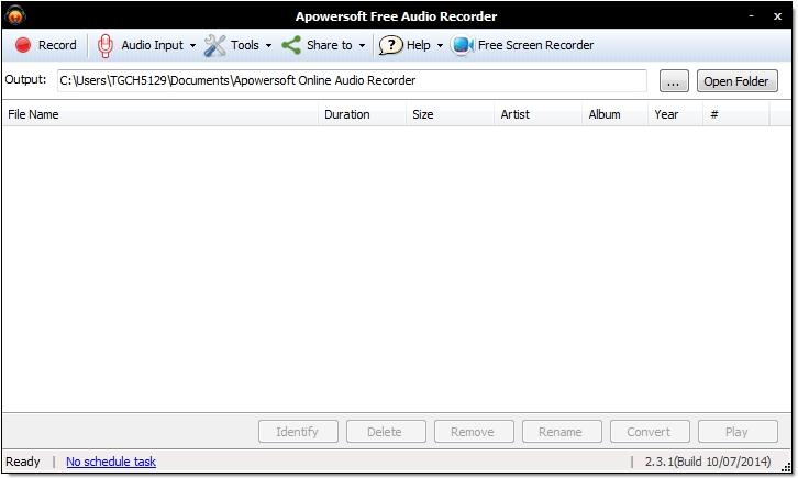 ApowerSoft - Free online audio recorder - programmet