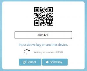 send-anywhere.com - Kode til download